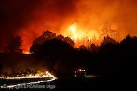 Fecha: 05-09-2013. (Lugo-Coruña) Incendio en la parroquia de Orosa, en Palas de Rei (Lugo) y Melide (Coruña), quemadas 40 hectareas. El incendio comenzo por la noche en la sierra del Careon, que separa las dos provincias.  Foto: EFE/eliseo trigo