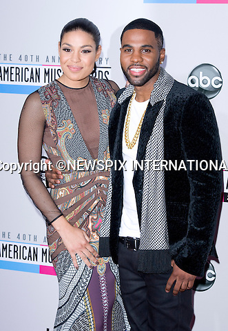 "JORDIN SPARKS AND JASON DERULO.attends the 40th American Music Awards, Nokia Theatre, Los Angeles_18/11/2012.Mandatory Photo Credit: ©Francis Dias/Newspix International..**ALL FEES PAYABLE TO: ""NEWSPIX INTERNATIONAL""**..PHOTO CREDIT MANDATORY!!: NEWSPIX INTERNATIONAL(Failure to credit will incur a surcharge of 100% of reproduction fees)..IMMEDIATE CONFIRMATION OF USAGE REQUIRED:.Newspix International, 31 Chinnery Hill, Bishop's Stortford, ENGLAND CM23 3PS.Tel:+441279 324672  ; Fax: +441279656877.Mobile:  0777568 1153.e-mail: info@newspixinternational.co.uk"