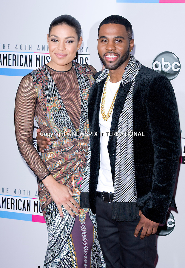 """JORDIN SPARKS AND JASON DERULO.attends the 40th American Music Awards, Nokia Theatre, Los Angeles_18/11/2012.Mandatory Photo Credit: ©Francis Dias/Newspix International..**ALL FEES PAYABLE TO: """"NEWSPIX INTERNATIONAL""""**..PHOTO CREDIT MANDATORY!!: NEWSPIX INTERNATIONAL(Failure to credit will incur a surcharge of 100% of reproduction fees)..IMMEDIATE CONFIRMATION OF USAGE REQUIRED:.Newspix International, 31 Chinnery Hill, Bishop's Stortford, ENGLAND CM23 3PS.Tel:+441279 324672  ; Fax: +441279656877.Mobile:  0777568 1153.e-mail: info@newspixinternational.co.uk"""