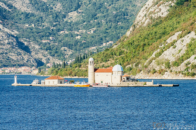 Our Lady of the Rocks Church in Kotor bay near Perast, Montenegro