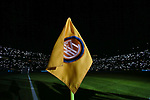 A corner flag bearing the Inter logo pictured during the Serie A match at Giuseppe Meazza, Milan. Picture date: 11th January 2020. Picture credit should read: Jonathan Moscrop/Sportimage
