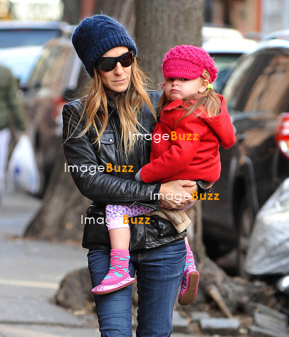 Sarah Jessica Parker with Marion Broderick and Tabitha Broderick in New York City, on December 6, 2012.