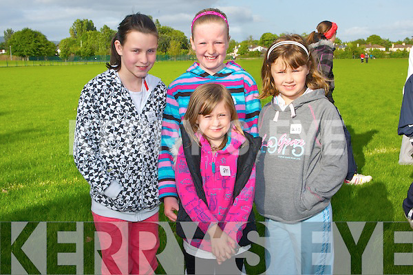 FUN: Having great fun at the Boherbee/ Manor and Cloghers, Community Games off the Dan Spring Road, Tralee on Friday evening.they were, lauren Dennehy, Katie Dennehy, Eve Duffy and Melissa Dennehy (Manor).