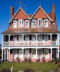 Edwardian style homes in Hamilton Gardens, Felixstowe, Suffolk, England