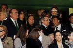Real Madrid´s president Florentino Perez and Granada´s president Enrique Pina Campuzano during 2014-15 La Liga match between Real Madrid and Granada at Santiago Bernabeu stadium in Madrid, Spain. April 05, 2015. (ALTERPHOTOS/Luis Fernandez)