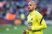 7th March 2020; Camp Nou, Barcelona, Catalonia, Spain; La Liga Football, Barcelona versus Real Sociedad; Martin Braithwaite of FC Barcelona during the warm up
