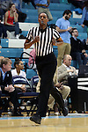 16 February 2017: Referee Geraldine Smith. The University of North Carolina Tar Heels hosted the Ramblin' Wreck from Georgia Tech University at Carmichael Arena in Chapel Hill, North Carolina in a 2016-17 NCAA Division I Women's Basketball game. North Carolina won the game 89-88.