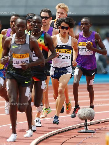 Tetsuya Yoroizaka, <br /> MAY 8, 2016 - Athletics : IAAF World Challenge Seiko Golden Grand Prix in Kawasaki <br /> Men's 3000m <br /> at Todoroki Stadium, Kanagawa, Japan. <br /> (Photo by Sho Tamura/AFLO SPORT)
