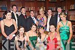 5413-5417.---------.Deb's Group.-----------.Student's from Castleisland Presentation having fun at their Deb's in the Abbeygate hotel Tralee last Friday night,seated L-R Marie Keane,Maura Bradley,Louise O'Connor,Maura Conroy,Bridget O'Shea and Elaine Loughlin,back L-R Declan Breen,Mike Hanafin,Killian Forde,Aoife Daly,Padraig O'Shea and Sean Daly.