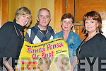 Frank Twomey with Deirdre Fleming, Lorraine Crowley, Denise O'Sullivan and Mary Fuller at the Santa Ponsa or Bust play in Killarney Avenue in aid of the Killarney Rugby club..
