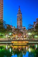 Love Park Fountain Night Philadelphia PA,
