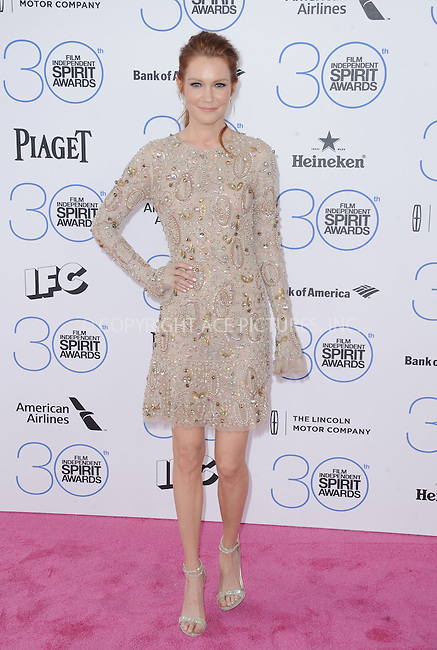 WWW.ACEPIXS.COM<br /> <br /> February 21 2015, LA<br /> <br /> Darby Stanchfield arriving at the 2015 Film Independent Spirit Awards at Santa Monica Beach on February 21, 2015 in Santa Monica, California.<br /> <br /> By Line: Peter West/ACE Pictures<br /> <br /> <br /> ACE Pictures, Inc.<br /> tel: 646 769 0430<br /> Email: info@acepixs.com<br /> www.acepixs.com
