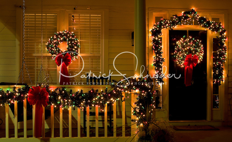 christmas lights and decorations adorn a home in the town of mcadenville nc the