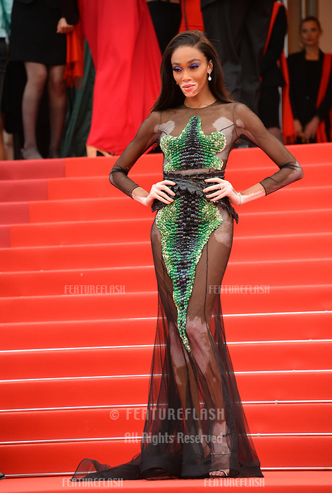 """CANNES, FRANCE. May 22, 2019: Winnie Harlow  at the gala premiere for """"Oh Mercy!"""" at the Festival de Cannes.<br /> Picture: Paul Smith / Featureflash"""