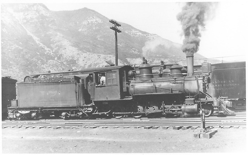 RGS 2-8-0 #17 switching at Durango.<br /> RGS  Durango, CO  Taken by Perry, Otto C. - 6/7/1923<br /> In book &quot;Southern, The: A Narrow Gauge Odyssey&quot; page 10<br /> Also in &quot;RGS Story Vol. XI&quot;, p. 175; &quot;RGS Story Vol. XII&quot;, p. 39 (enlarged) and &quot;Silver San Juan&quot;, p. 200.<br /> Same as RD155-068 and RDS155-159.