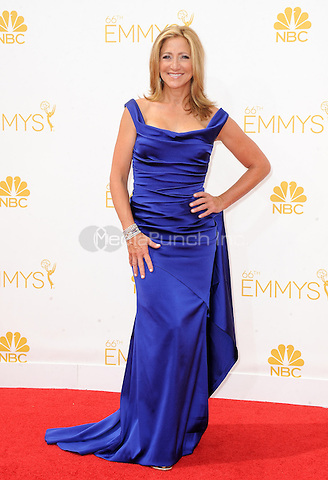 LOS ANGELES, CA - AUGUST 25: Edie Falco arrives at the 66th Primetime Emmy Awards at Nokia Theatre L.A. Live on August 25, 2014 in Los Angeles, California.SKPG/MediaPunch