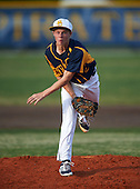 Boca Ciega Pirates pitcher Andrew Pedroff (2) during a game against the Lakeland Spartans at Boca Ciega High School on March 2, 2016 in St. Petersburg, Florida.  (Copyright Mike Janes Photography)