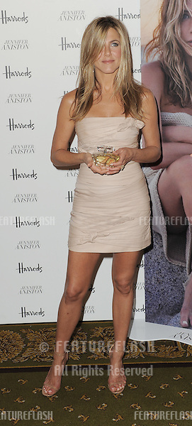 Jennifer Aniston at a photocall to launch her perfume at Harrods, Knightsbridge, London. 21/07/2010  Picture by: Simon Burchell / Featureflash