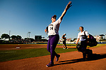 OKLAHOMA CITY, OK - JUNE 05: Taran Alvelo #14 of Washington waves to fans during game two of the  Division I Women's Softball Championship held at USA Softball Hall of Fame Stadium - OGE Energy Field on June 5, 2018 in Oklahoma City, Oklahoma. Florida State defeated Washington 8-3 to win the national championship. (Photo by Tim Nwachukwu/NCAA Photos via Getty Images)