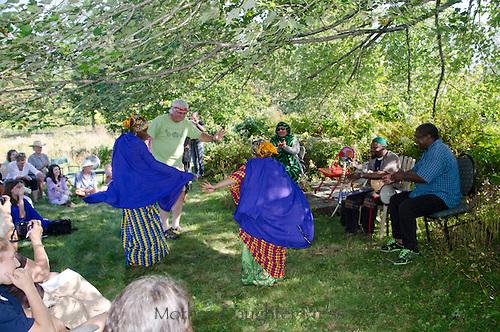 Dancing at Somali Bantu harvest festival, New Gloucester Maine
