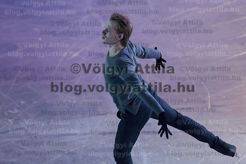 Sergei Voronov of Russia silver medalist of the Men's Figure Skating competition performs during the gala exhibition of the ISU European Figure Skating Championships in Budapest, Hungary on January 19, 2014. ATTILA VOLGYI