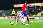 S&ouml;dert&auml;lje 2014-11-09 Fotboll Kval till Superettan Assyriska FF - &Ouml;rgryte IS :  <br /> Assyriskas Jens Jakobsson i kamp om bollen med &Ouml;rgrytes Daniel Paulson under matchen mellan Assyriska FF och &Ouml;rgryte IS <br /> (Foto: Kenta J&ouml;nsson) Nyckelord:  S&ouml;dert&auml;lje Fotbollsarena Kval Superettan Assyriska AFF &Ouml;rgryte &Ouml;IS