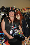 Donna O'Brien - editor at Crescent Moon - poses with Jane Elissa and is wearing Jane Elissa's Hat for Health hat which benefits Leukemia/Lymphoma at Romantic Times Booklovers Annual Convention 2011 - The Book Industry Event of the Year - April 6th to April 10th at the Westin Bonaventure, Los Angeles, California for readers, authors, booksellers, publishers, editors, agents and tomorrow's novelists - the aspiring writers. (Photo by Sue Coflin/Max Photos)