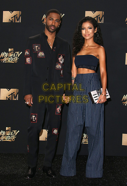 LOS ANGELES, CA - MAY 7: Big Sean and Jhene Aiko at the 2017 MTV Movie and TV Awards at The Shrine Auditorium in Los Angeles, California on May 7, 2017. <br /> CAP/MPI/FS<br /> &copy;FS/MPI/Capital Pictures