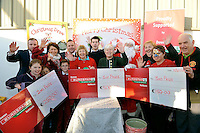 Prizewinners at Downes Eurospar Rathkeale Christmas Food Fair at the weekend when the winner of a &euro;500 shopping voucher was Owen Ranathan. Included are front from left, Amy Kavanagh, Cathal Downes, Darren Downes and at back, Jonathon Mooney, Eileen O'Riordan, Derek Downes, proprietor, Mary Curtin, The Butterfly Club, special guest Fair City's Ryan Andrews, Margaret Geary, Santa Claus, Margaret Royce, Laura Mooney and Noel White.<br /> Picture by Don MacMonagle<br /> <br /> <br /> pr photo from Downes Eurospar<br /> further information cmeany@bwg.ie