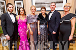 Gary and Helen Hussey, Carina Bulger, Sandra and Brendan O'Flaherty and Sinead Curtin attending the Scoil Eoin Valentine's Ball Fundraiser in the Ballygarry House Hotel on Friday night.