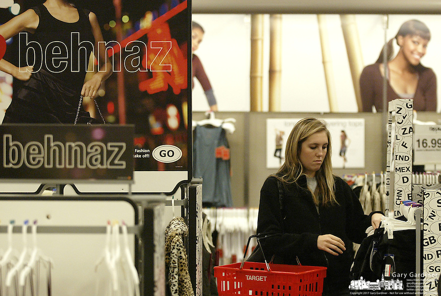 The clothing section with featured designers is popular at a Target store Tuesday, Nov. 14, 2006 in Columbus, Ohio.<br />