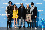 "Pablo Ibañez, Macarena Garcia, Jordi Sanchez, Eva Hache and Luis Piedranhita attends to the presentation of the film ""Ls Pitufos"" in Madrid. March 14, 2017. (ALTERPHOTOS/Borja B.Hojas)"