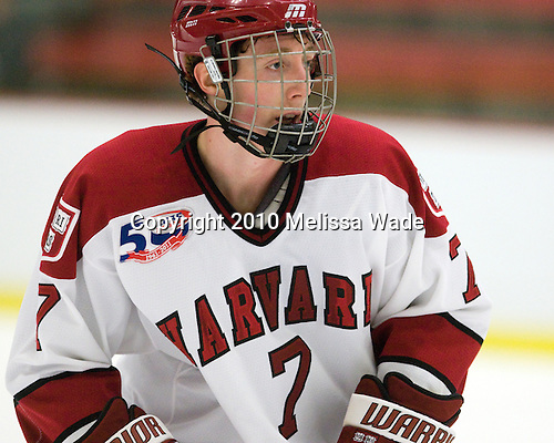 Danny Fick (Harvard - 7) -  - The visiting Merrimack College Warriors defeated the Harvard University Crimson 3-1 (EN) at Bright Hockey Center on Tuesday, November 30, 2010.