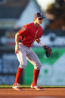 Williamsport Crosscutters shortstop Chandler Hall (13) during a game against the Batavia Muckdogs on September 2, 2016 at Dwyer Stadium in Batavia, New York.  Williamsport defeated Batavia 9-1. (Mike Janes/Four Seam Images)