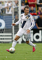 CARSON, CA - DECEMBER 01, 2012:   David Beckham (23)of the Los Angeles Galaxy against the Houston Dynamo during the 2012 MLS Cup at the Home Depot Center, in Carson, California on December 01, 2012. The Galaxy won 3-1.