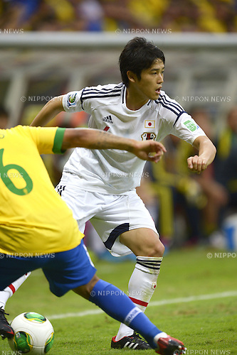 Atsuto Uchida (JPN),<br /> JUNE 15, 2013 - Football / Soccer :<br /> FIFA Confederations Cup Brazil 2013 Group A match between Brazil 3-0 Japan at Estadio Nacional in Brasilia, Brazil. (Photo by FAR EAST PRESS/AFLO)
