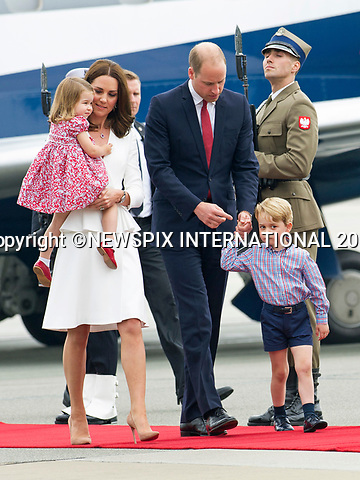 17.07.2017; Warsaw, Poland: PRINCE GEORGE, PRINCESS CHARLOTTE, KATE AND WILLIAM<br />