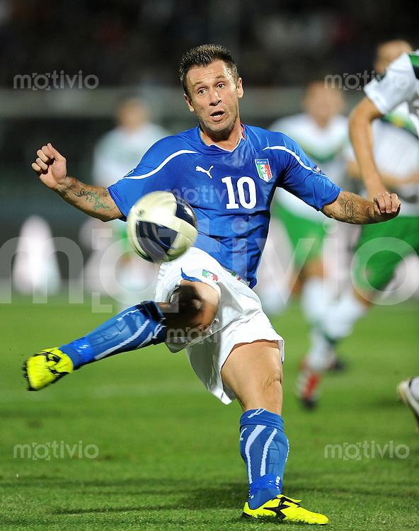 FUSSBALL INTERNATIONAL  Qualifikation Euro 2012  11.10.2011 Italien - Nordirland Antonio Cassano (Italien)
