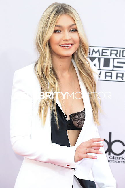LOS ANGELES, CA, USA - NOVEMBER 23: Gigi Hadid arrives at the 2014 American Music Awards held at Nokia Theatre L.A. Live on November 23, 2014 in Los Angeles, California, United States. (Photo by Xavier Collin/Celebrity Monitor)