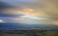 Wildfire smoke in sky, near Walsenburg, Colorado. July 2013.  89255