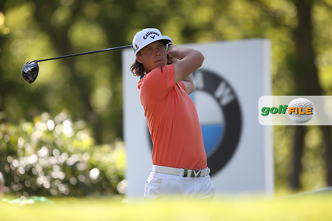Kristoffer BROBERG (SWE) drives the 17th during Round One of the 2015 BMW PGA Championship over the West Course at Wentworth, Virginia Water, London. 21/05/2015Picture David Lloyd, www.golffile.ie.