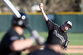 March 13, 2010:  Pitcher Evan Zerff (9) of Long Island University Blackbirds in a game vs. Army at Henley Field in Lakeland, FL.  Photo By Mike Janes/Four Seam Images