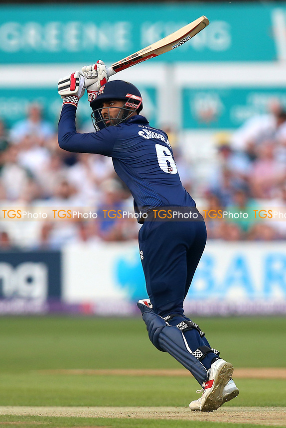 Varun Chopra in batting action for Essex during Essex Eagles vs Surrey, NatWest T20 Blast Cricket at The Cloudfm County Ground on 7th July 2017