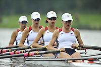 Amsterdam, NETHERLAND, USA BW 4X, . 2011 FISA U23 World Rowing Championships, Thursday, 21/07/2011 [Mandatory credit:  Intersport Images].
