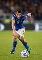 Italy's Alessandro Florenzi in action during the Fifa World Cup 2018 qualification soccer match between Italy and Spain at Turin's Juventus Stadium, October 6, 2016. The game ended 1-1.<br /> UPDATE IMAGES PRESS/Isabella Bonotto
