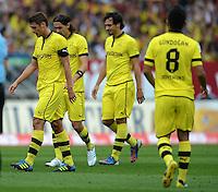 FUSSBALL   1. BUNDESLIGA  SAISON 2012/2013   2. Spieltag 1. FC Nuernberg - Borussia Dortmund       01.09.2012 Sebastian Kehl , Neven Subotic, Mats Hummels (v.li., Borussia Dortmund)