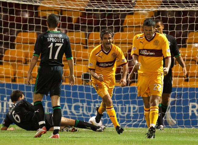 Keith Lasley celebrates his goal
