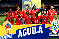 CALI-COLOMBIA, 29-10-2019: Jugadores de América de Cali posan para una foto, antes de partido entre América de Cali y Deportivo Pasto, de la fecha 20 por la Liga Aguila II 2019 jugado en el estadio Pascual Guerrero de la ciudad de Cali. / Players of America de Cali pose for a photo, prior a match between America de Cali and Deportivo Pasto, of the 20th date for the Liga Aguila II 2019 at the Pascual Guerrero stadium in Cali city. / Photo: VizzorImage / Nelson Ríos / Cont.