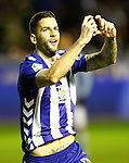 Deportivo Alaves' Edgar Mendez celebrates goal during Spanish Kings Cup semifinal 2nd leg match. February 08,2017. (ALTERPHOTOS/Acero)