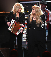 NEW YORK - JANUARY 26: Christine McVie and Stevie Nicks of Fleetwood Mac appear at the 2018 MusiCares Person of the Year honoring Fleetwood Mac at Radio City Music Hall on January 26, 2018 in New York City. (Photo by Frank Micelotta/PictureGroup)